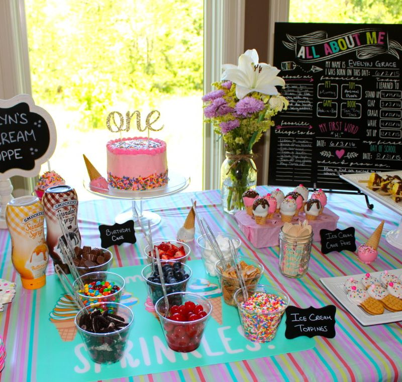 {Evelyn is One!}: an ice cream 1st birthday party | ournextadventure.co