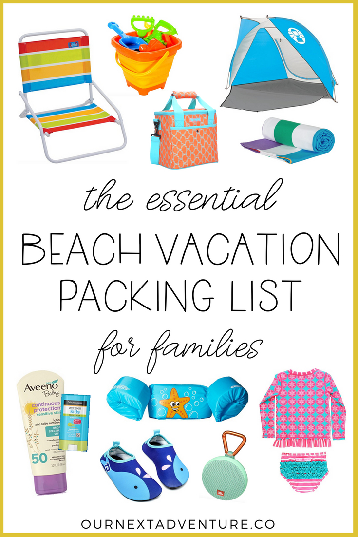 graphic regarding Beach Vacation Packing List Printable named Packing Record: What towards Pack for a Spouse and children Seashore Trip Our