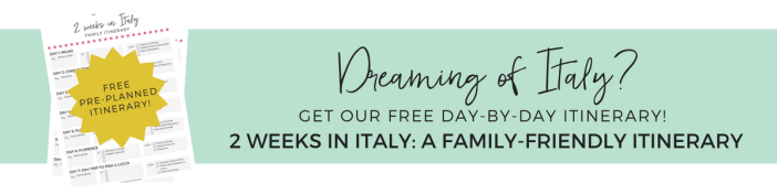 Free Printable Pre-Planned Itinerary for 2 Weeks in Italy