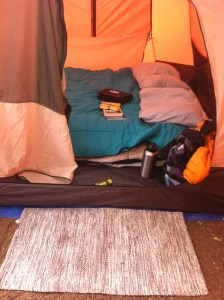 A car camping setup lets you have a full-sized air mattress, and a bigger tent, along with luxury items like *pillows*