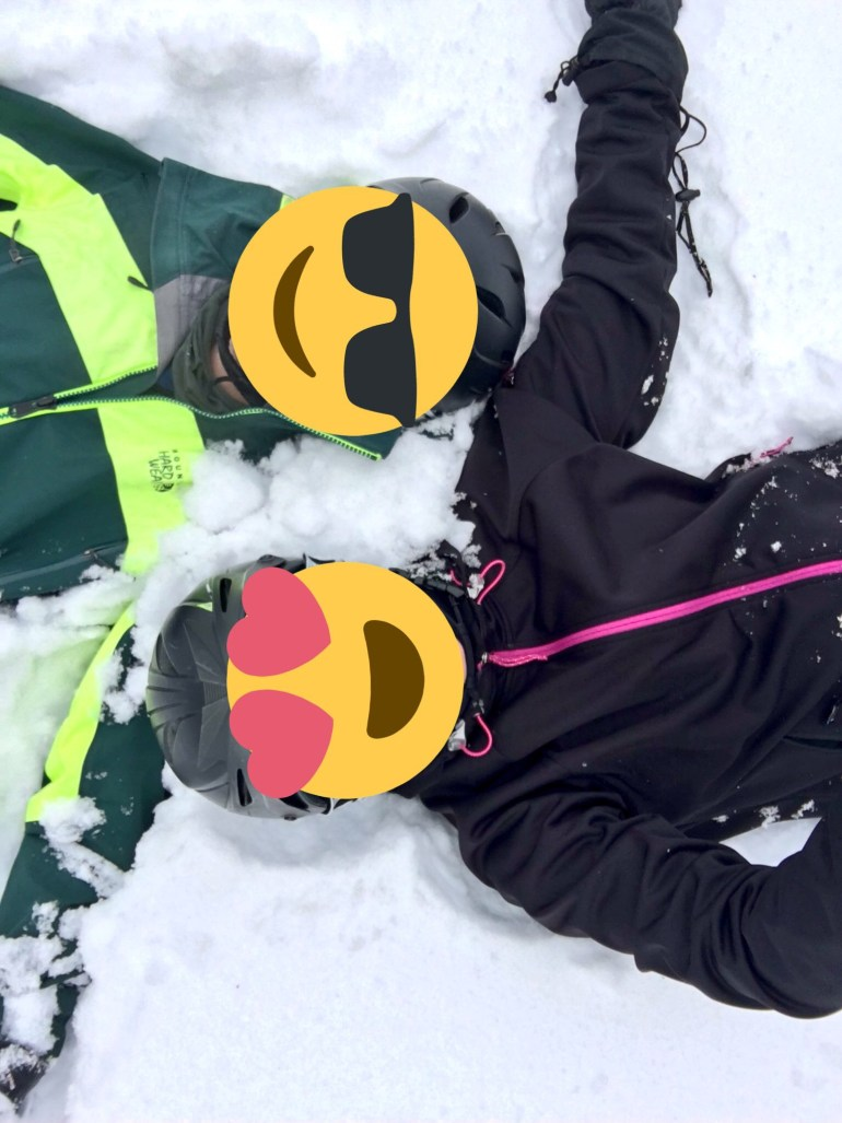 Mr and Ms ONL in the snow