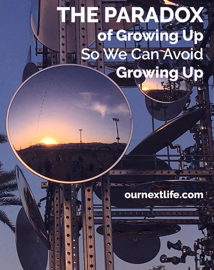 The Paradox of Growing Up So We Can Avoid Growing Up // For those of us pursuing early retirement so we can be kids forever, there's an interesting paradox: we have to grow up to avoid growing up and early retire.