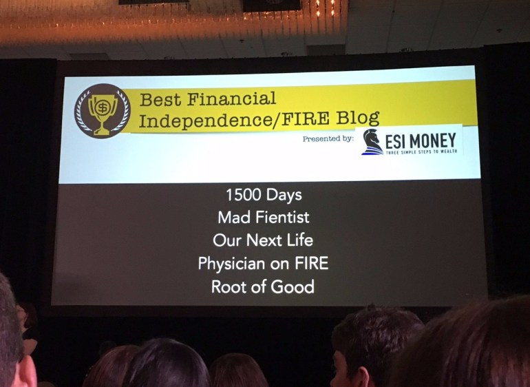 Plutus Awards finalists for best financial independence/FIRE blog