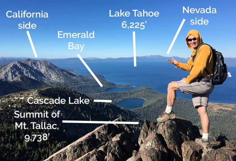 Our Next Life -- Mark on Mt. Tallac, overlooking Lake Tahoe and Emerald Bay