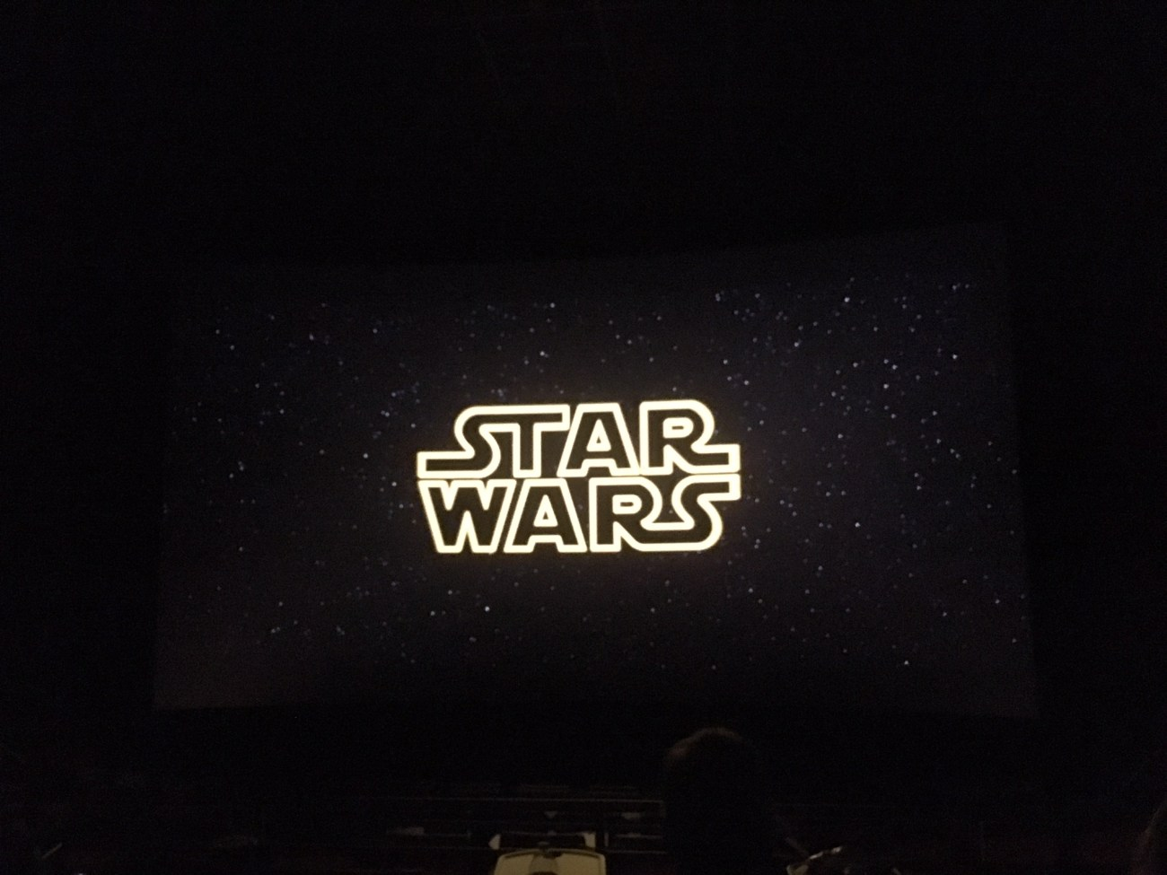 Nearly empty theater for Star Wars. Happy zombie apocalypse Saturday.