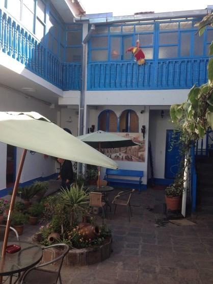 hostal Cusco inner courtyard