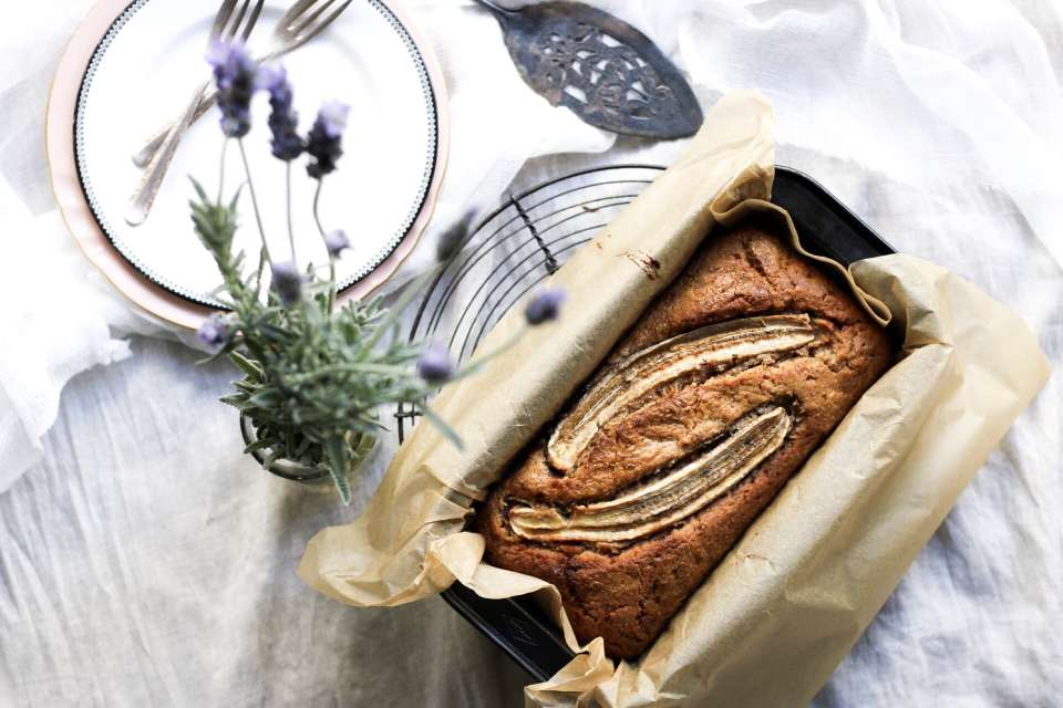 Spelt Banana Bread, healthy baking, family food