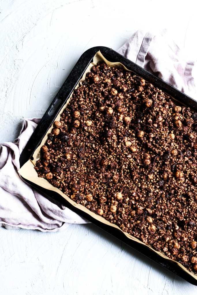 chocolate buckwheat granola recipe, granola recipe, gluten free breakfast recipe