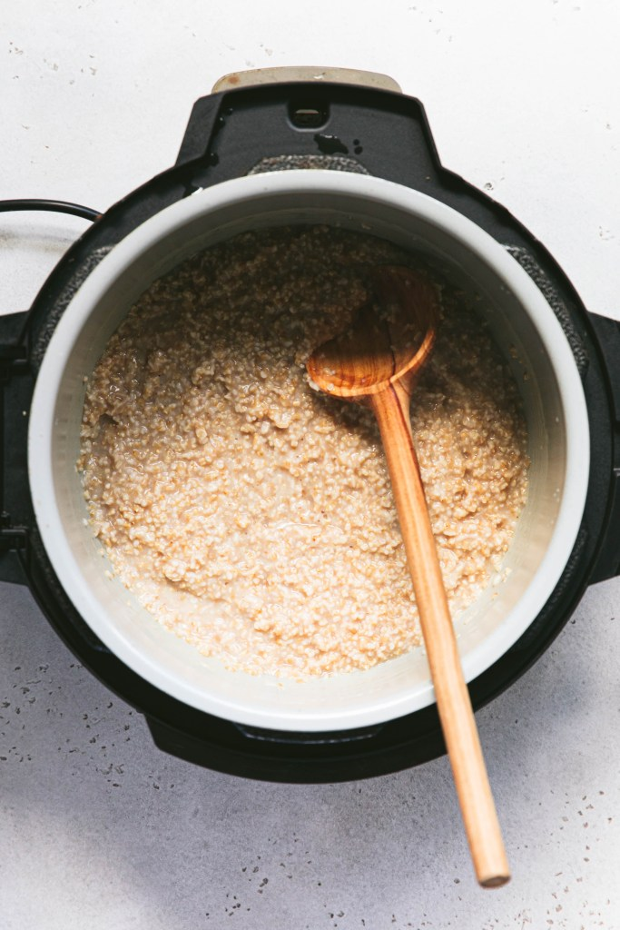 perfectly cooked steel cut oats