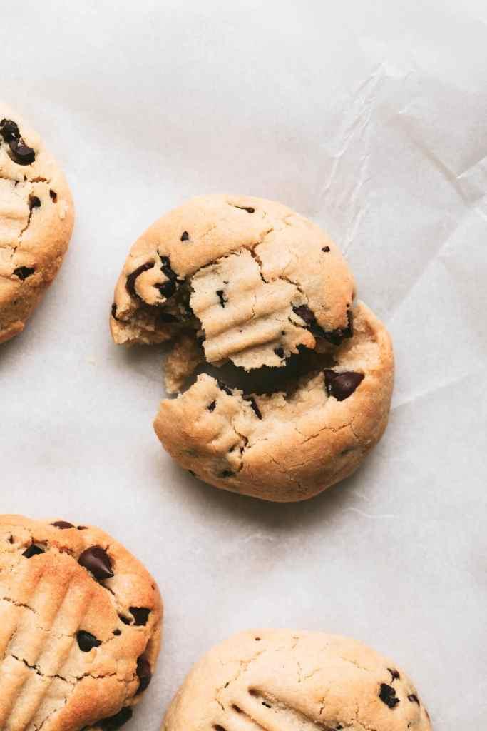 broken choc chip tahini cookie