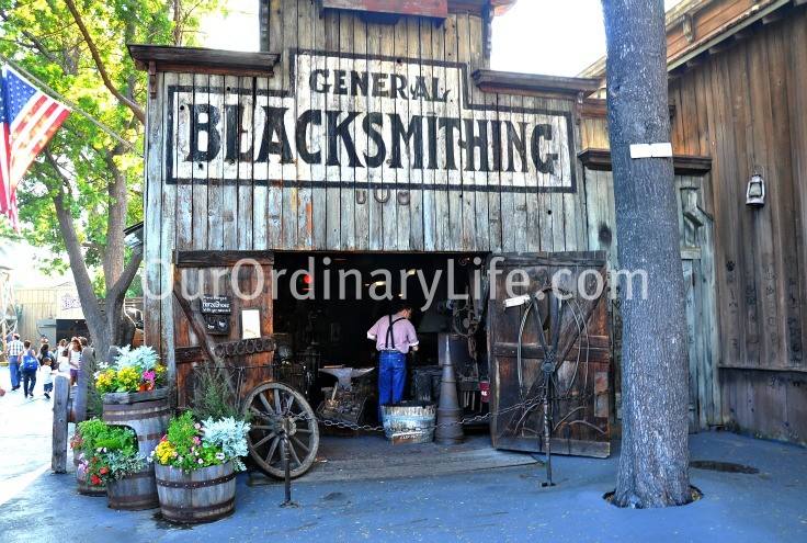 General Blacksmith Really at Work in Knotss Berry Farm