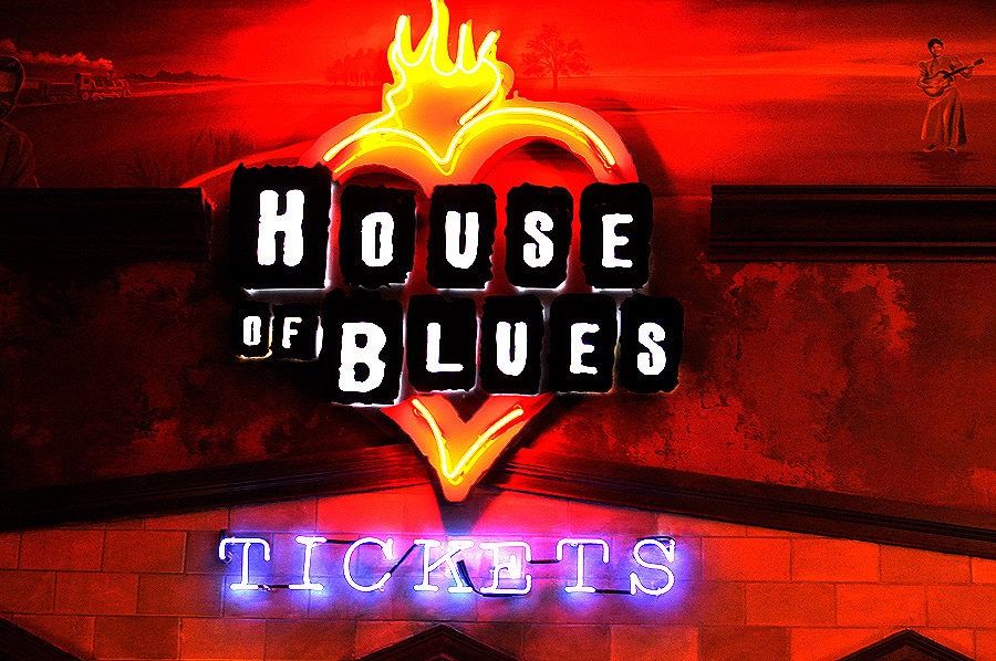 House of Blues Cleveland Tickets neon sign