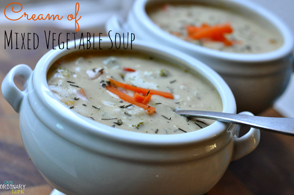 cream of mixed vegetable soup recipe