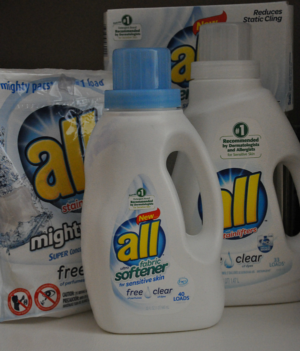 all® free clear liquid fabric softener and dryer sheets