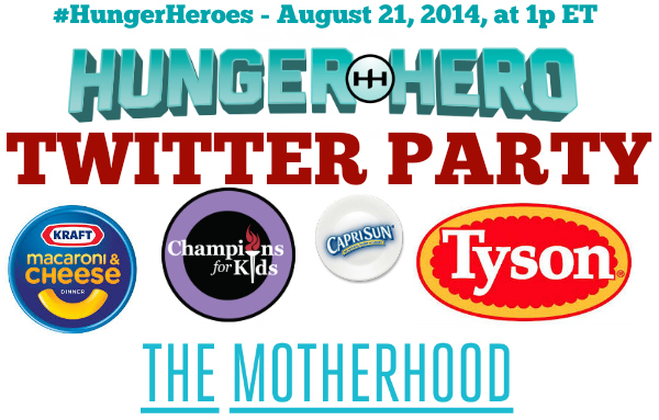 twitter party hunger heroes