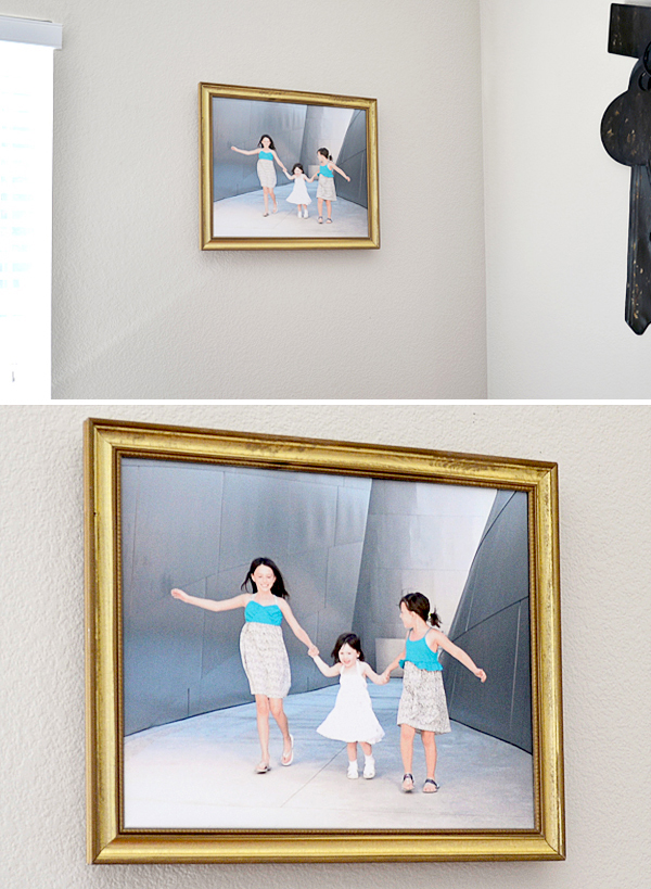 framed and hanged canvas factory print