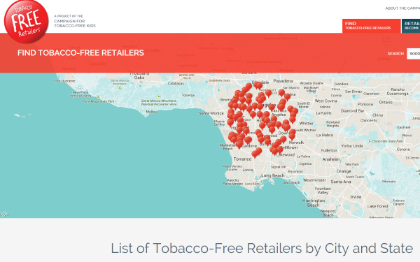 shop tobacco free