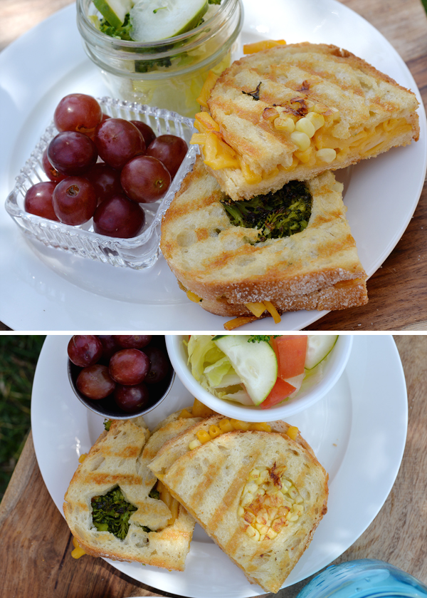 Grilled Broccolli Kernal Corn Mac Cheese sandwich with shapes cutout (8)