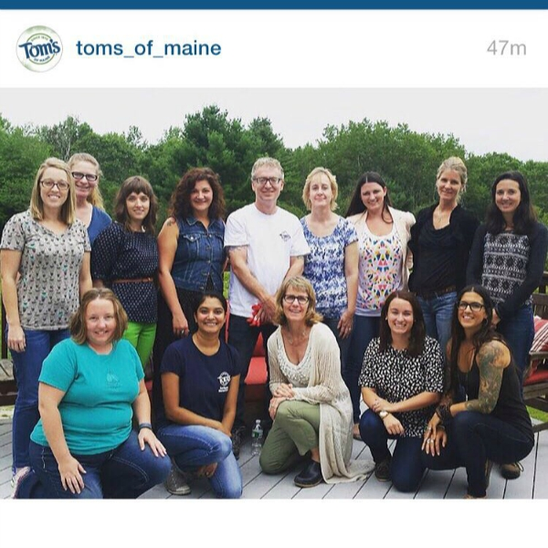 toms of Maine trip instagram