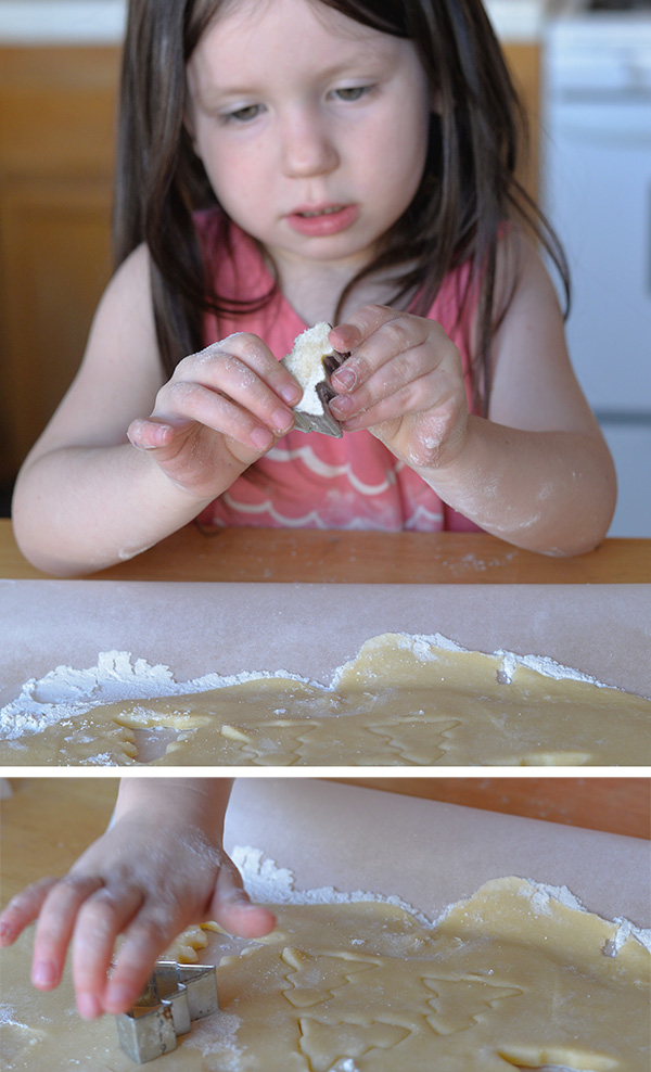 toddler making cookies
