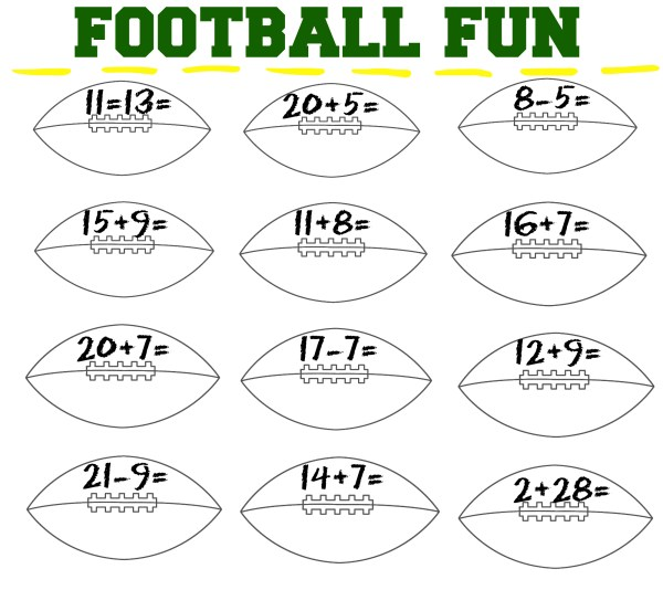 football fun printable
