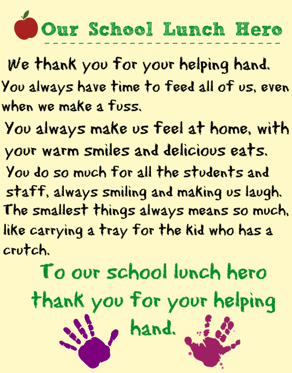 Celebrating School Lunch Hero Day