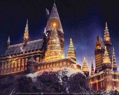 Christmas Wizarding World of Harry Potter universal studios hollywood