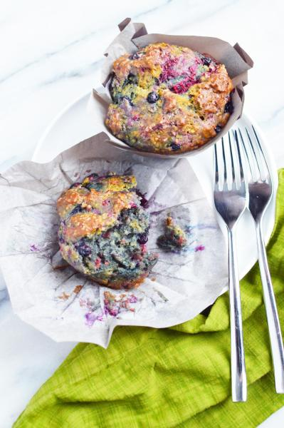 Totally Addictive Mixed Berry Muffins