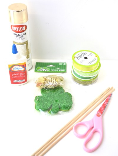 Crafting With Kids - Shamrock Wand Craft supply list