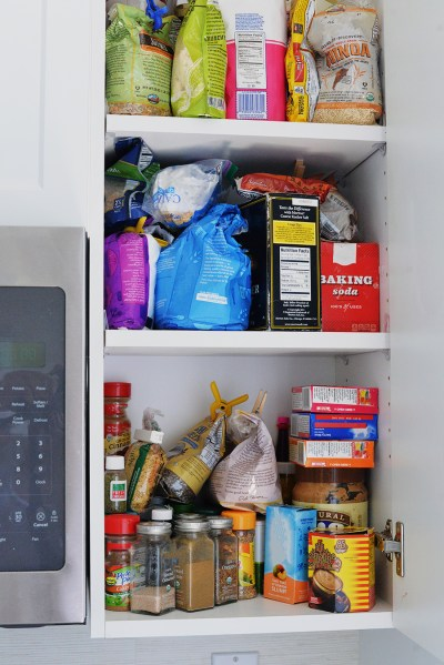 cupboard cabinet spices out of control