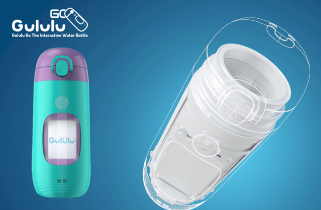 gululu go kids water bottle inside design