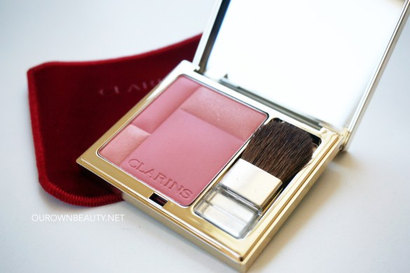 review swatch phấn má clarins