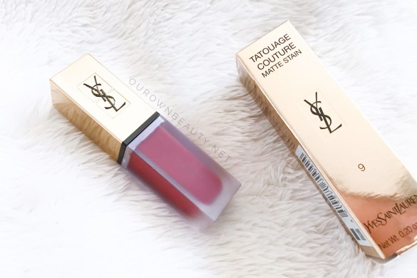 review swatch son kem ysl tatouage matte lip stain