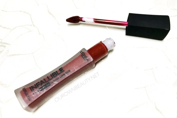 review swatch son kem lỳ l'oreal infaillible pro matte liquid lipstick màu stirred