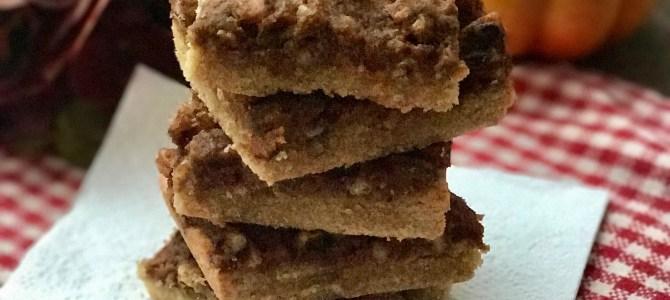 Paleo Pumpkin Pecan Cookie Bars