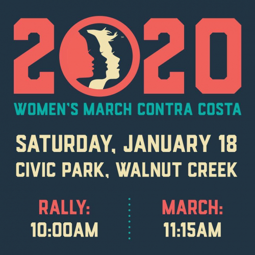 Women's March – Walnut Creek @ Civic Park : 10:30AM ...March For Peace 2020