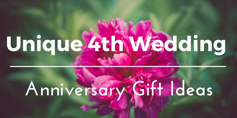 Best 4th Wedding Anniversary Gift Ideas for Him and Her 35 Unique Floral  Fruity Presents to
