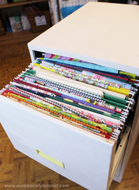 Organize Fabric with a File Cabinet!
