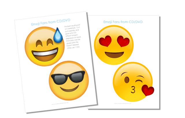 free emoji fan printables