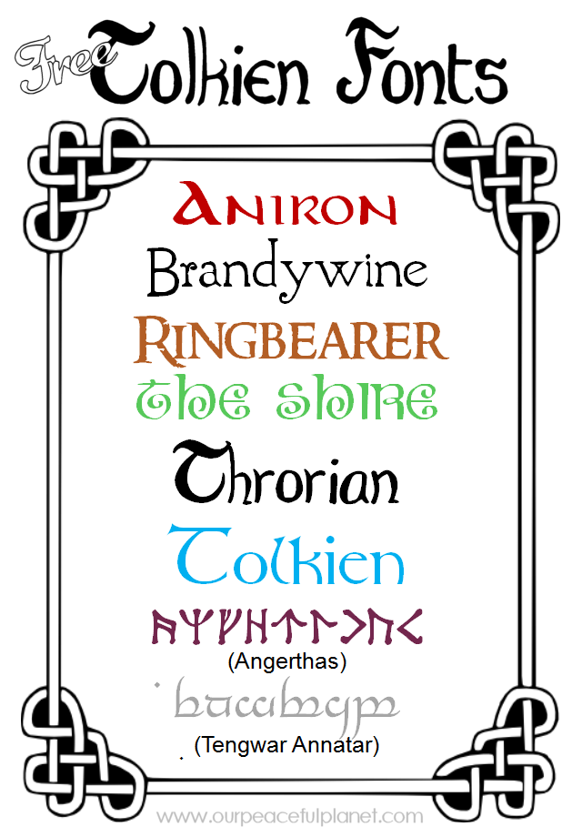 Free Tolkien Fonts