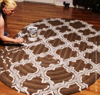 How to Stencil & Paint Carpet | Our Peaceful Planet