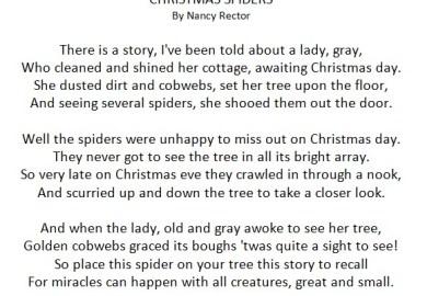 The Christmas Spider Diy Free Poem Printable
