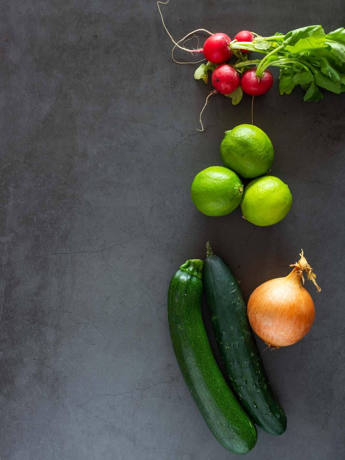 Ingredientes básicos del ceviche vegano