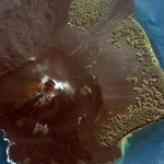 Krakatoa, from space