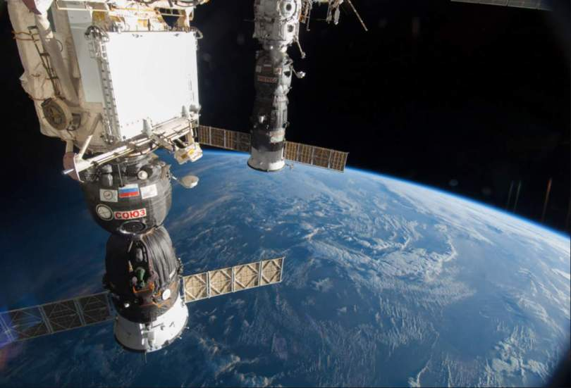 Earth and ISS