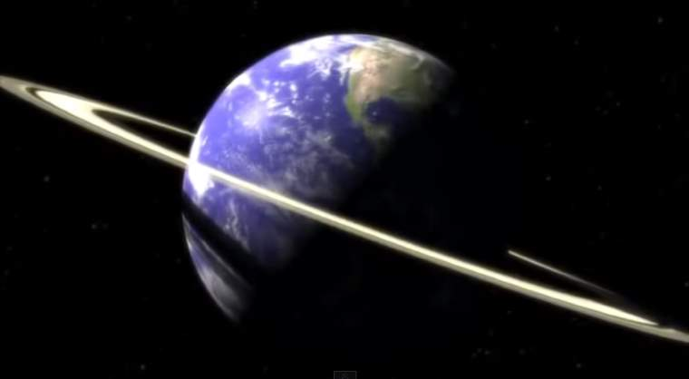 Earth with rings like Saturn
