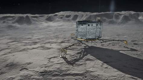 Philae on Churyumov-Gerasimenko