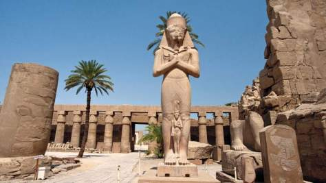 Driest Places on Earth - 5: Luxor, Egypt - Statue of Ramses II in Karnak Temple