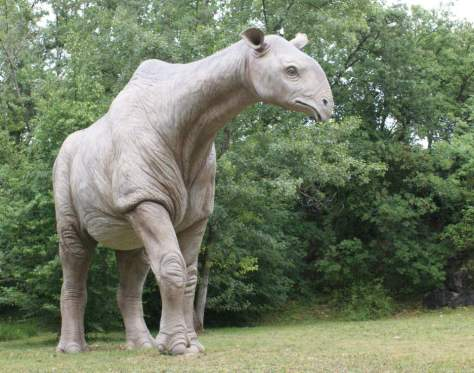 Largest prehistoric mammals - Indricotherium model at the Parco Natura Viva, Pastrengo, Veneto, Italy