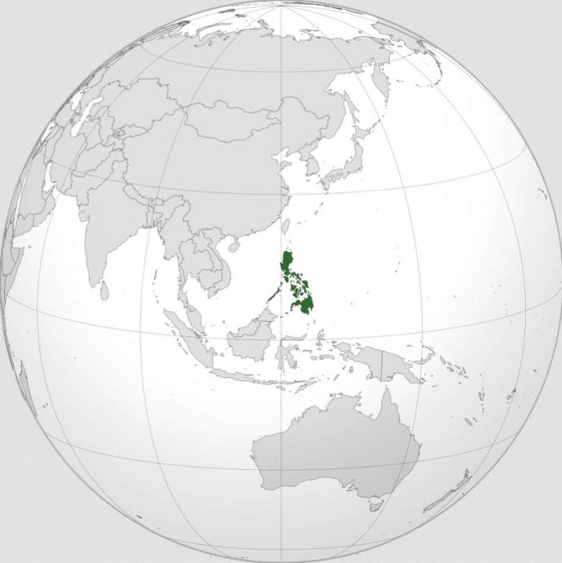 Philipinnes (orthographic projection)